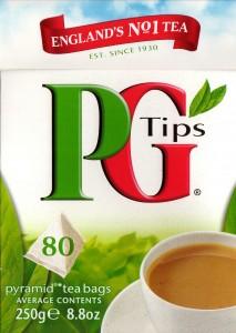 A box of PG Tips tea bags