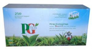 PG Tips box of 250 tea bags.
